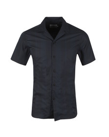Les Deux Mens Blue Lugano Short Sleeve Shirt