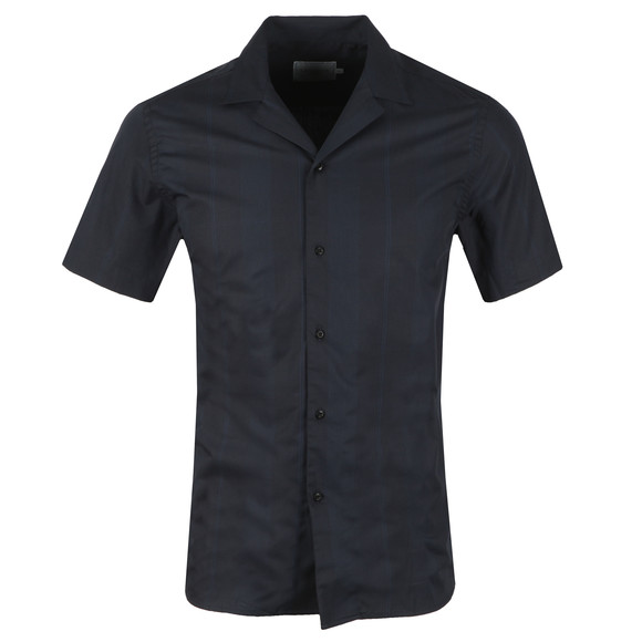 Les Deux Mens Blue Lugano Short Sleeve Shirt main image