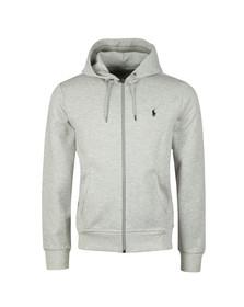 Polo Ralph Lauren Mens Grey Double Knit Tech Full Zip Hoodie