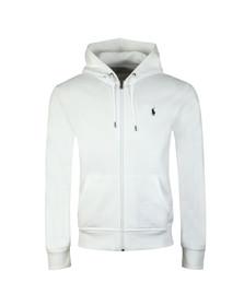 Polo Ralph Lauren Mens White Double Knit Tech Full Zip Hoodie