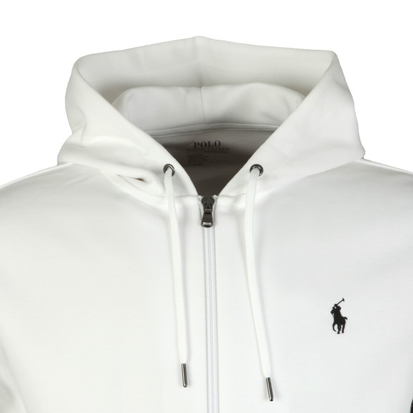 Polo Ralph Lauren Mens White Double Knit Tech Full Zip Hoodie main image