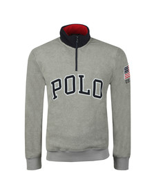 Polo Ralph Lauren Mens Grey Half Zip Fleece Pullover
