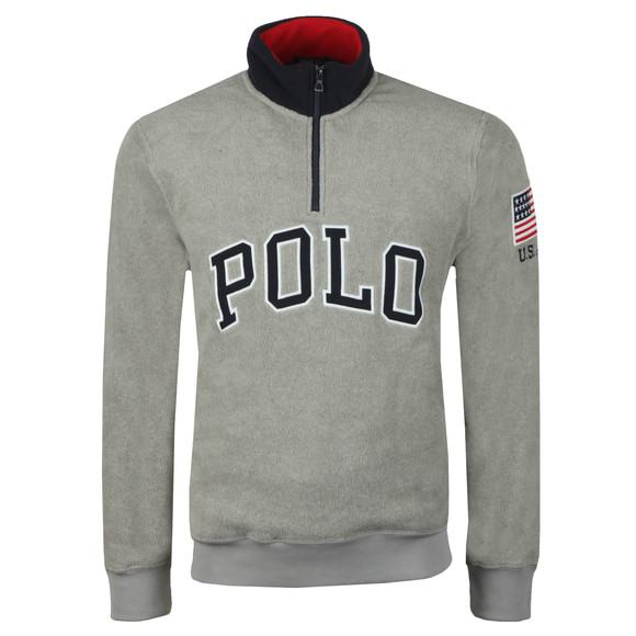 Polo Ralph Lauren Mens Grey Half Zip Fleece Pullover main image