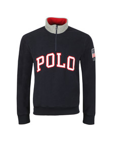 Polo Ralph Lauren Mens Blue Half Zip Fleece Pullover