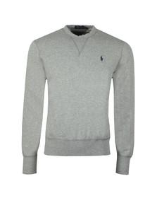 Polo Ralph Lauren Mens Grey Panel Fleece Crew Sweatshirt