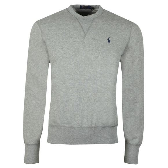 Polo Ralph Lauren Mens Grey Panel Fleece Crew Sweatshirt main image