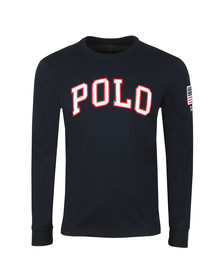 Polo Ralph Lauren Mens Blue Embroidered Logo Long Sleeve T Shirt