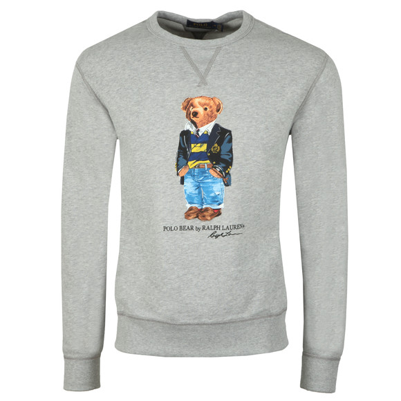 Polo Ralph Lauren Mens Grey Bear Logo Fleece Sweatshirt main image
