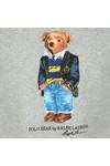 Polo Ralph Lauren Mens Grey Bear Logo Fleece Sweatshirt