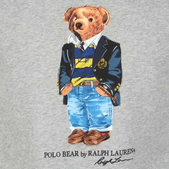 Polo Ralph Lauren Mens Grey Bear Logo Fleece Sweatshirt main image