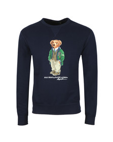 Polo Bear By Ralph Lauren Mens Blue Bear Logo Fleece Sweatshirt