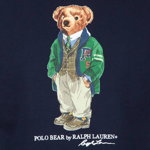 Polo Bear By Ralph Lauren Mens Blue Bear Logo Fleece Sweatshirt main image