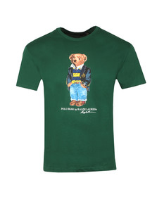 Polo Bear By Ralph Lauren Mens Green Classic Fit Bear Print T-Shirt