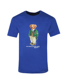 Polo Bear By Ralph Lauren Mens Blue Classic Fit Bear Print T-Shirt