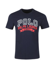 Polo Ralph Lauren Mens Blue Custom Slim Fit 1967 Logo T-Shirt