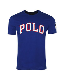 Polo Ralph Lauren Mens Blue Embroidered Logo Custom Slim T Shirt