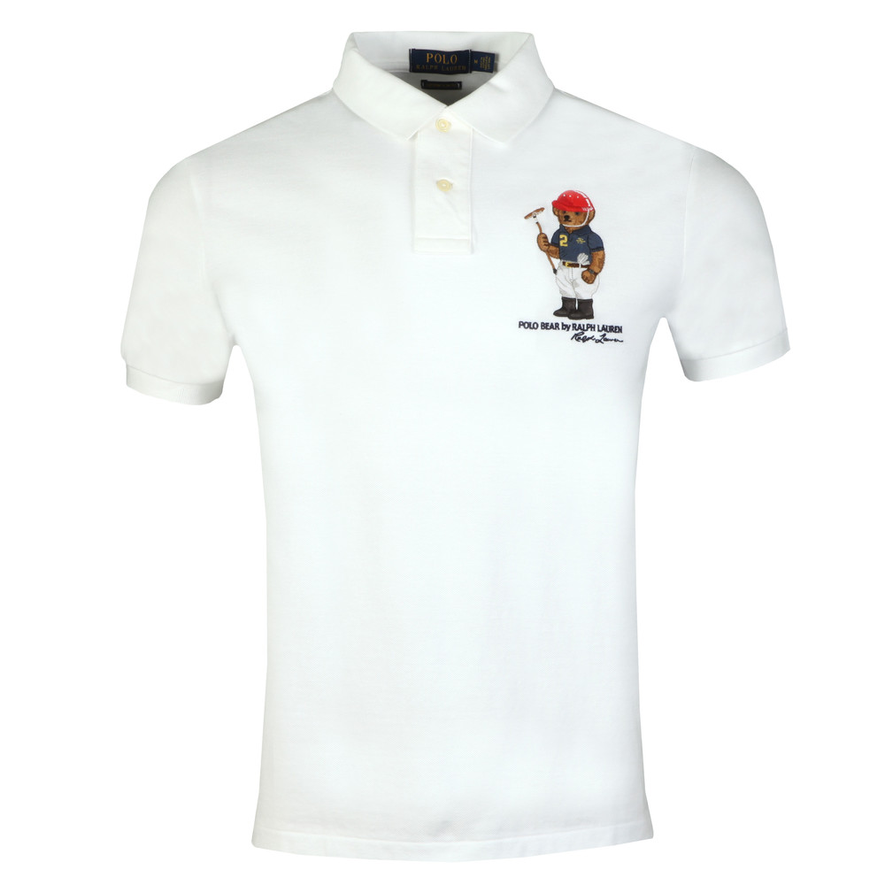 Polo Ralph Lauren Bear Logo Mesh Polo Shirt Oxygen Clothing