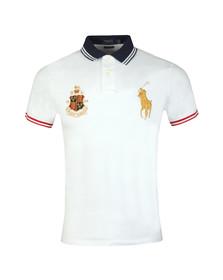 Polo Ralph Lauren Mens White Crest Logo Polo Shirt