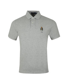 Polo Ralph Lauren Mens Grey Small Bear Logo Polo Shirt