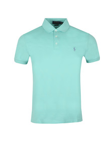 Polo Ralph Lauren Mens Green Slim-Fit Stretch Mesh Polo Shirt