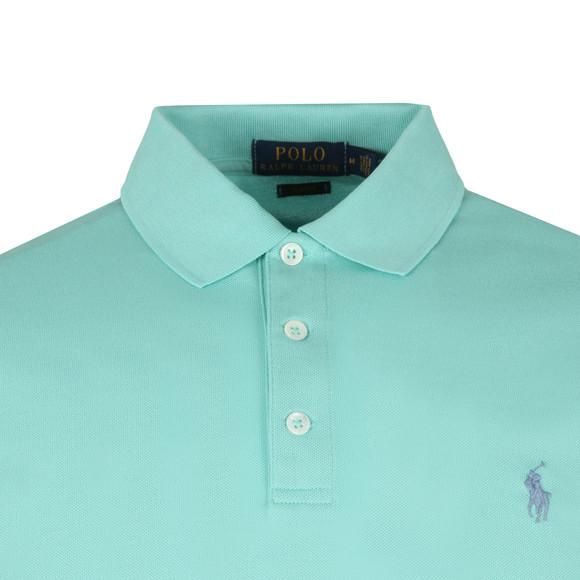 Polo Ralph Lauren Mens Green Slim-Fit Stretch Mesh Polo Shirt