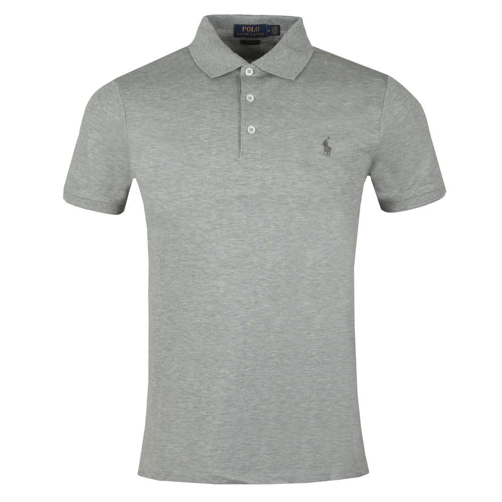 Polo Mens Grey Fit Stretch Mesh Slim Shirt E2IWH9DY