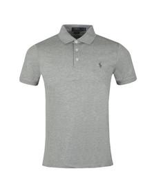 Polo Ralph Lauren Mens Grey Slim-Fit Stretch Mesh Polo Shirt