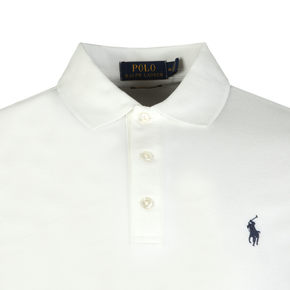 b2d76601d981 ... Polo Ralph Lauren Mens White Slim-Fit Stretch Mesh Polo Shirt main  image ...