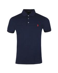 Polo Ralph Lauren Mens Blue Slim-Fit Stretch Mesh Polo Shirt