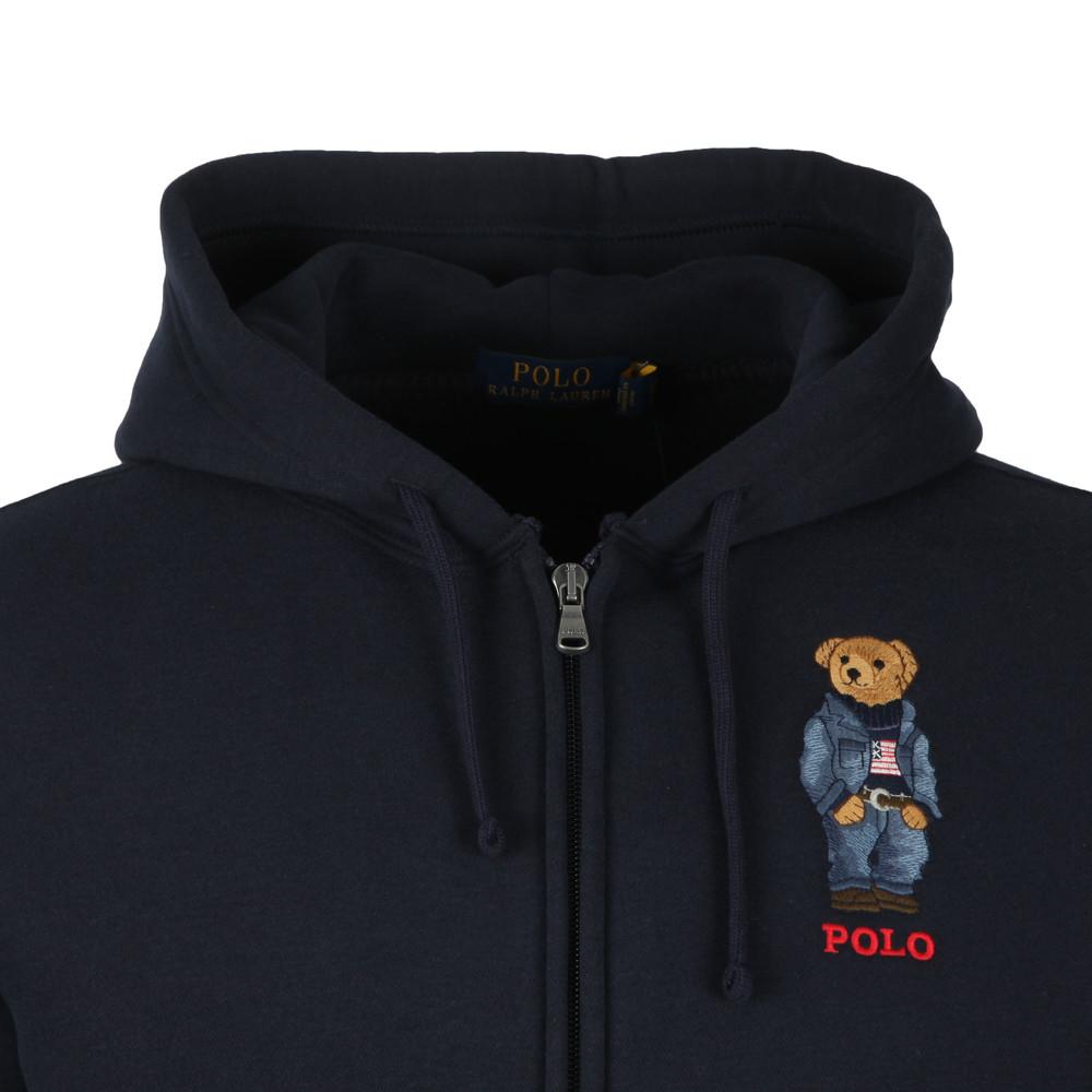 f9887037 Mens Blue Polo Bear Fleece Hoodie