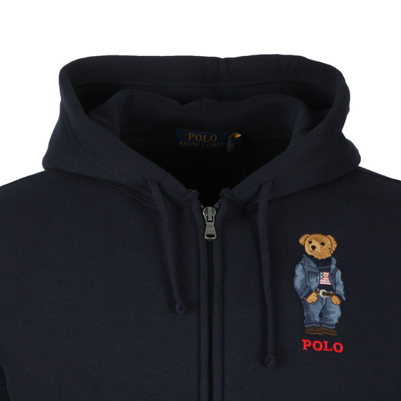 Polo Ralph Lauren Mens Blue Polo Bear Fleece Hoodie main image
