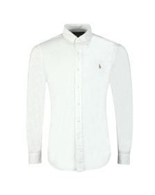 Polo Ralph Lauren Mens White Slim Fit Oxford Shirt