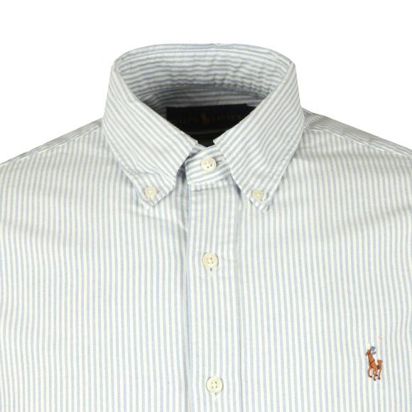 Polo Ralph Lauren Mens Blue Slim Fit Stripe Oxford Shirt