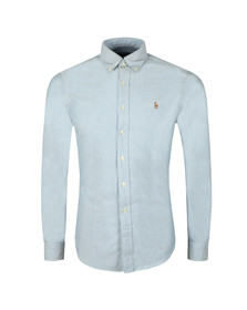 Polo Ralph Lauren Mens Blue Slim Fit Oxford Shirt