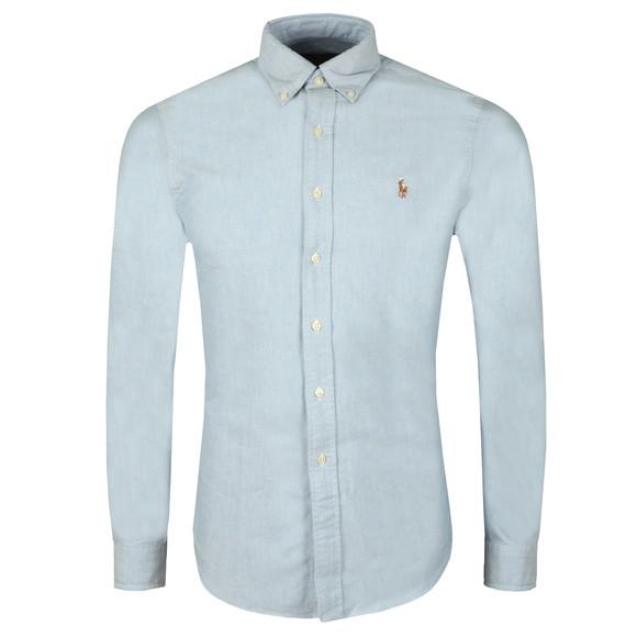 Polo Ralph Lauren Mens Blue Slim Fit Oxford Shirt
