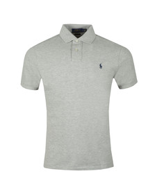 Polo Ralph Lauren Mens Grey Slim Fit Polo Shirt