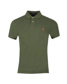 Polo Ralph Lauren Mens Green Slim Fit Polo Shirt