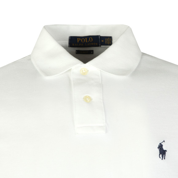 Polo Ralph Lauren Mens White Slim Fit Polo Shirt main image