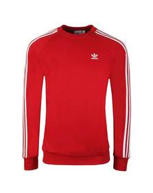 adidas Originals Mens Red 3 Stripes Sweat