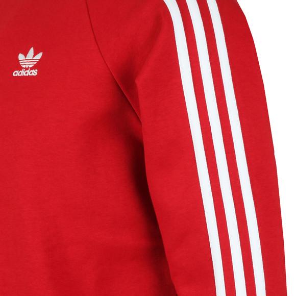 adidas Originals Mens Red 3 Stripes Sweat main image