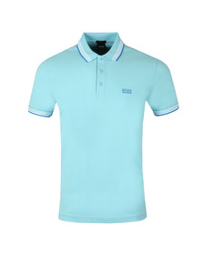 BOSS Mens Turquoise Athleisure Paddy Polo Shirt