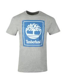 Timberland Mens Grey Stack Logo Tee