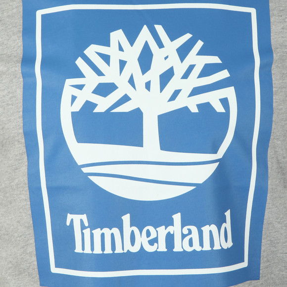 Timberland Mens Grey Stack Logo Tee main image