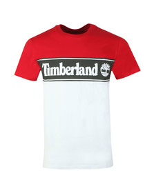 Timberland Mens Red Cut And Sew Tee