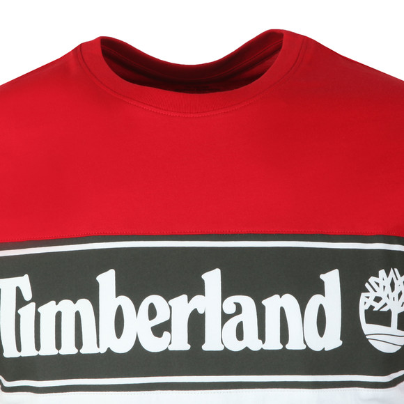 Timberland Mens Red Cut And Sew Tee main image