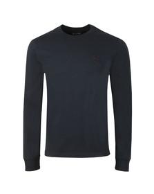 Ma.Strum Mens Blue Long Sleeve Icon T-Shirt