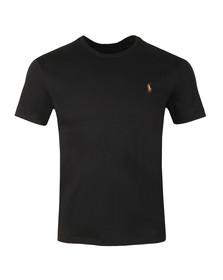 Polo Ralph Lauren Mens Black Custom Slim Fit Pima Cotton T Shirt