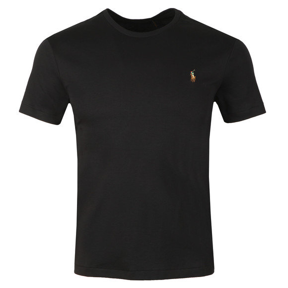 Polo Ralph Lauren Mens Black Custom Slim Fit Pima Cotton T Shirt main image