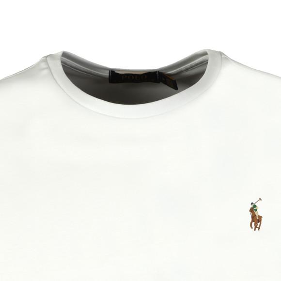 Polo Ralph Lauren Mens White Custom Slim Fit Pima Cotton T Shirt