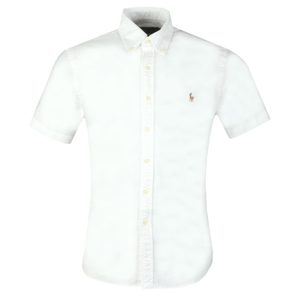 Polo Ralph Lauren Mens White Slim Fit Short Sleeve Oxford Shirt main image